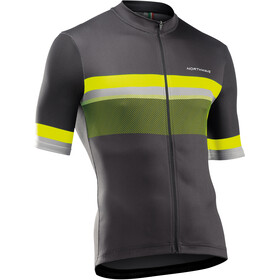 Northwave Origin Short Sleeve Jersey Men, anthracite/yellow fluo